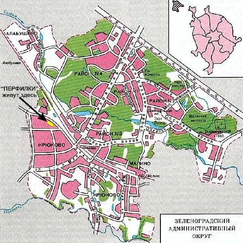 Зеленоград схема района